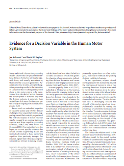 Evidence for a decision variable in the human motor system.