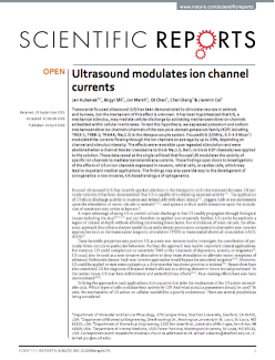 Ultrasound modulates ion channel currents.
