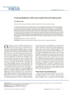 Neuromodulation with transcranial focused ultrasound.